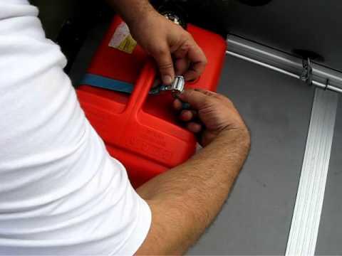 как закрепить топливный бак в лодке пвх