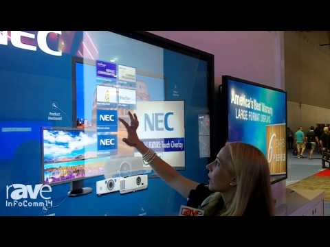 InfoComm 2014: NEC Shows Its V801 With Overlay Large-Format Display With Multi-Touch