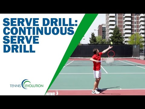 HOW TO SERVE IN TENNIS FAST | The Special Serve Drill Anybody Can Do