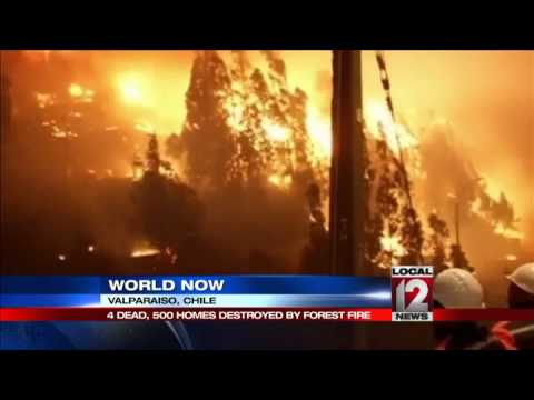 11 dead as fire hits Chile historic Valparaiso