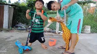 Đồ Chơi Trẻ Em Bé Pin Đi Học Về ❤ PinPin TV ❤ Baby Toys Go To School