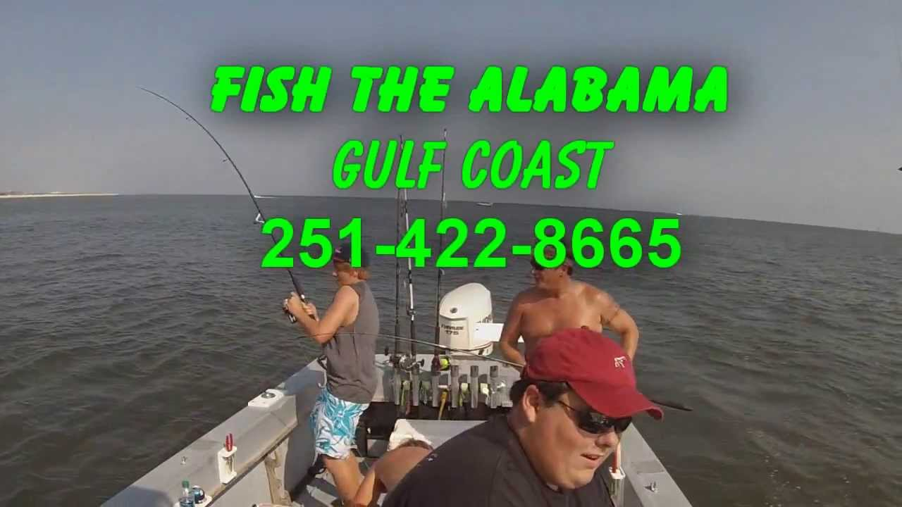 Fort morgan fishing charters captain ronnie black youtube for Capt al fishing report