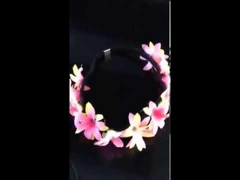 Como hacer cintillos de flores