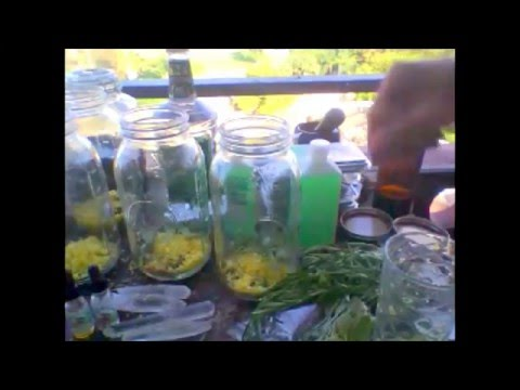 How to make your own Florida Cologne water. Herbal recipe for energy clearing.