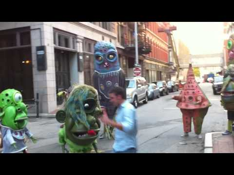 The Big Nazo Creature Posse challenge a genuine skater dude on their way ...