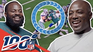 Fletcher Cox & DeMarcus Ware Compare Game Film and Big Play Celebrations | NFL 100 Generations