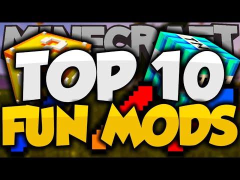 Top 10 FUN MINECRAFT MODS! - Best Minecraft Mods For 1.8