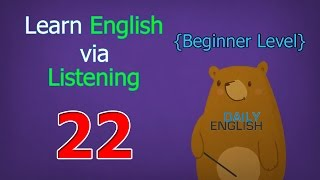 Learn English via Listening Beginner Level | Lesson 22 | Meals