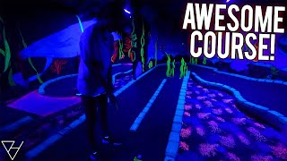 This Blacklight Mini Golf Course Really Surprised Us! - Hole In One and More!