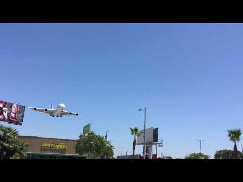 Air France Airbus A380 Landing at Los Angeles International Airport