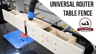 Universal Router Table Fence
