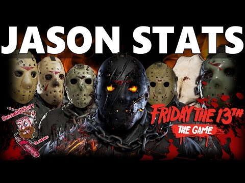 Friday the 13th The Game | All 7 playable Jason's Stats | Full Strength & Weakness Breakdown