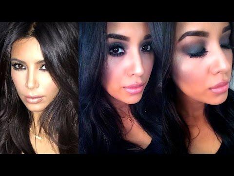 Kim Kardashian Black Smokey Eye Makeup Tutorial Ft. The Nudes Palette by Maybelline