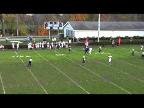 Austin Whipple #3 Salisbury School 2012 Football Highlights
