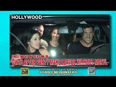 MAKS LEAVES DWTS AFTER PARTY WITHOUT MERYL