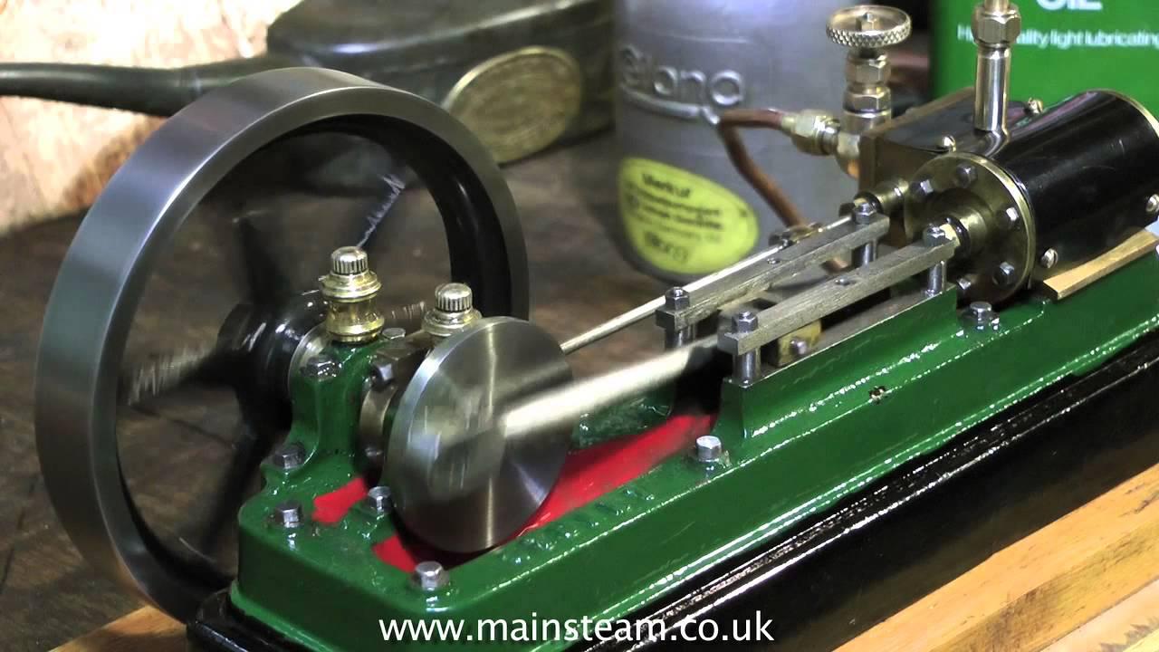 Vintage Stuart S50 Model Steam Engine Running In The