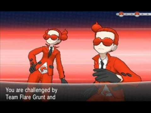 Flare Grunt y Team Flare Grunt Battle