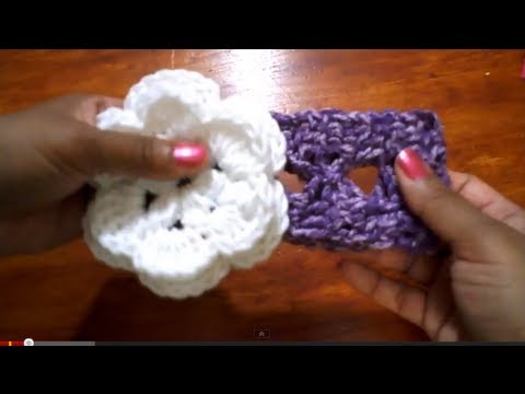 Cintillo con pasa cinta (version 2) -Tutorial de tejido crochet
