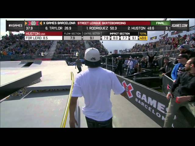 Nyjah Huston Final Run in SLS Final