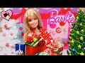 Barbie Doll Opens 24 Christmas Presents! Shoes, Dollhouse  Accesories and Pets!