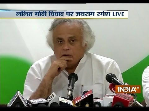 Lalit Modi case: Jairam Ramesh alleges Vasundhra Raje and Lalit Modi of being business partners