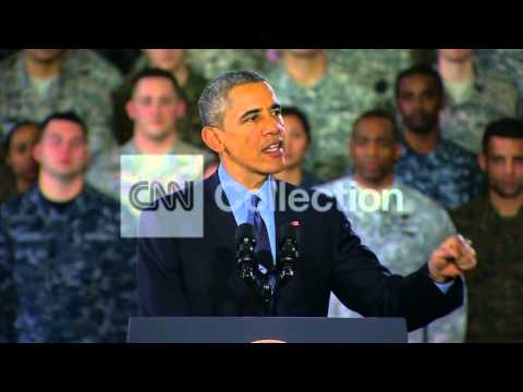 OBAMA ADRESSES TROOPS: MISSION IN AFGHANISTAN