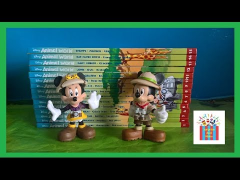 1 to 15 Disney Animal World Book Animal Toys With Minnie And Mickey