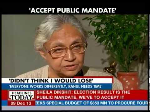 Centerstage: Sheila Dikshit accepts the historic defeat