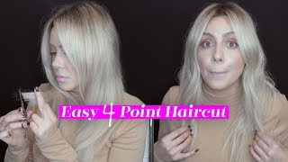 Easy 4 Point Haircut for Healthy looking hair