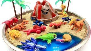 Dino Mecard Dinosaur Toys DIY Volcano Eruptiont   Jurassic World 공룡메카드 화산폭발