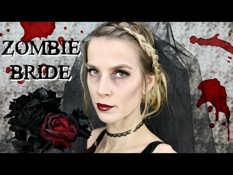 ZOMBIE BRIDE HALLOWEEN COSTUME   Hair + Makeup Tutorial