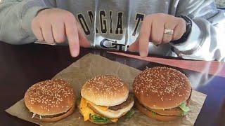 McDonalds Big Mac's In 3 Sizes Grand Mac REVIEW MUKBANG - Vans World
