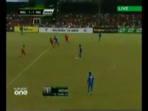 India VS Maldives 1-1 Football Match Highlights 10th July 2011