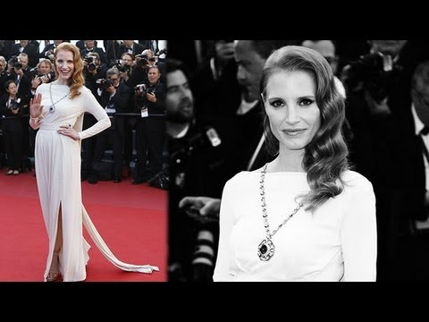 Jessica Chastain Gets Glam in Elizabeth Taylor's Jewelry | Fashion Flash
