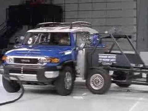 crash test 2007 toyota fj cruiser iihs side impact youtube. Black Bedroom Furniture Sets. Home Design Ideas