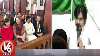 Pawan Kalyan And Poland Ambassador Adam Burakowski Visits St Mary's Church