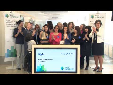 Amelle célèbre le World Wish Day à la bourse NYSE Euronext de Paris