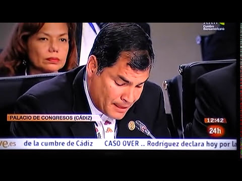 Mariano Rajoy RECIBE TIRON DE OREJAS del Presidente de Ecuador.MOD