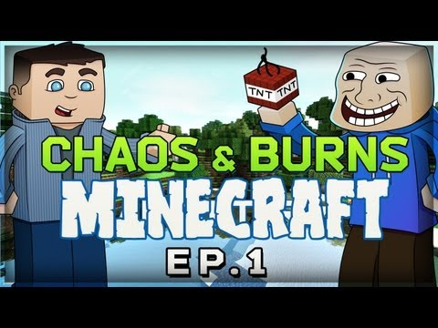 Minecraft: Epic Adventure Ep. 1 THE STRUGGLE Survival Mode MinnesotaBurns ChaosxSilencer