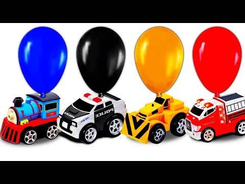 Learn Street Vehicles Names & Sounds School Bus Police Car Fire Truck Excavator Learning Video Kids