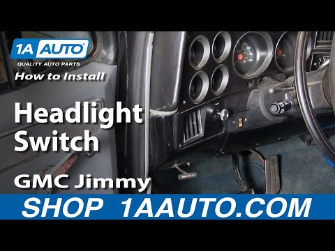 How To Install Replace Headlight Switch Chevy GMC Pontiac Ford Dodge 1AAuto.com