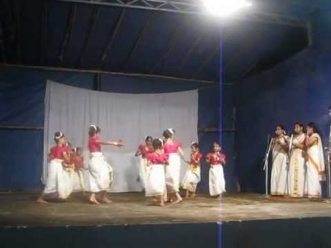 Thiruvathira At Onakkoor Temple Choreography Prasanna Variar video
