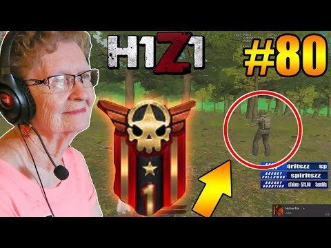 61year old Grandma wins her FIRST H1Z1 Game! H1Z1 - Oddshots & Funny Moments #80