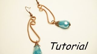 TUTORIAL orecchini wire per principianti | Wire earrings TUTORIAL