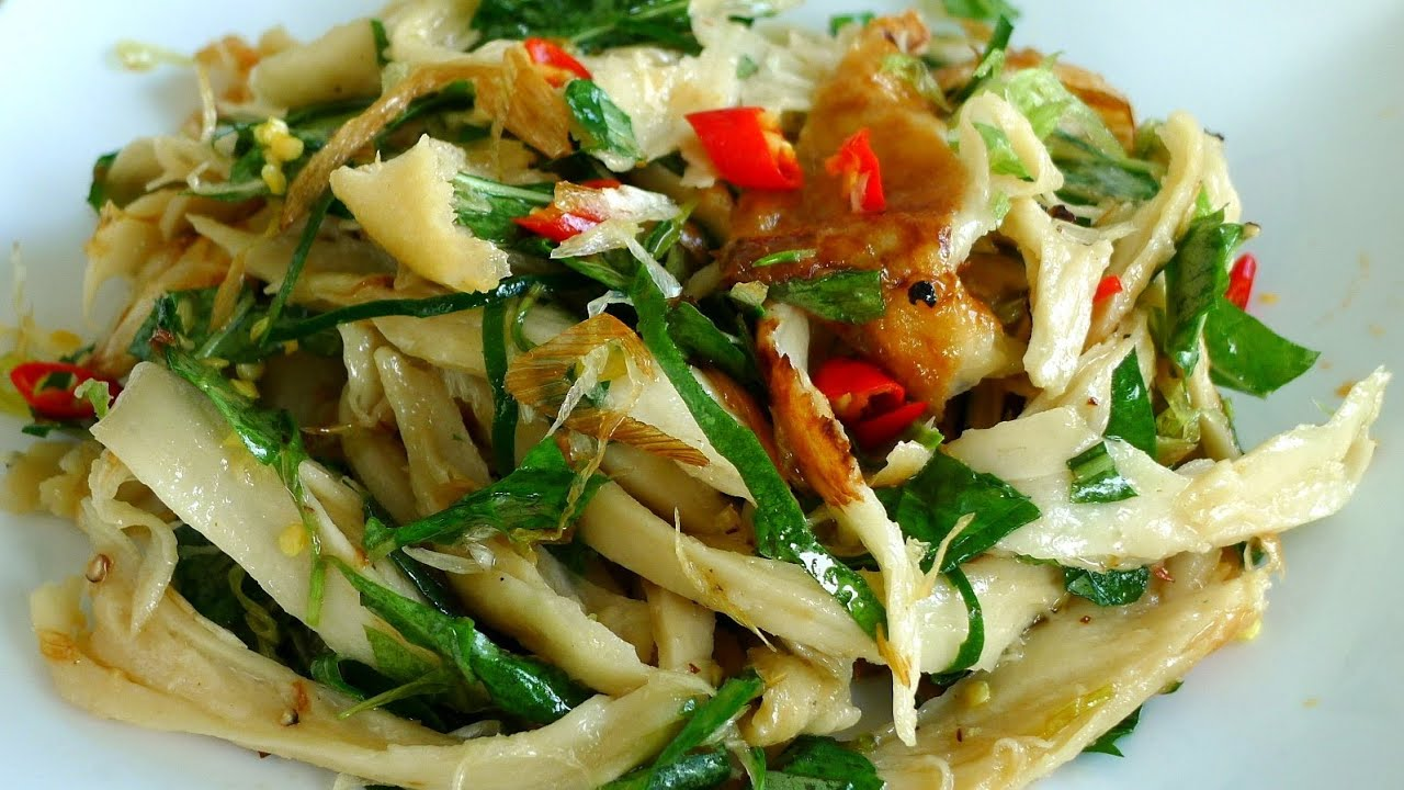 Vegetarian Chicken Salad - Goi Ga Chay - YouTube