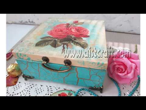 How to crackle paint. Decoupage tutorial for beginners.