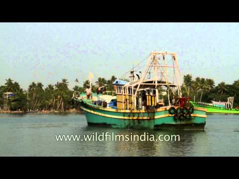 Fishing boat heading towards the Arabian Sea for fishing