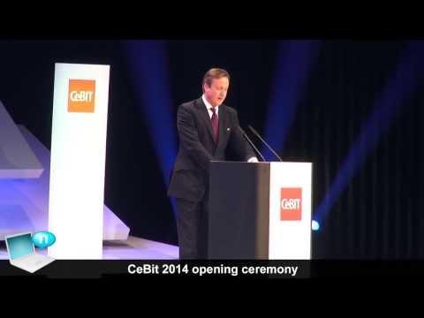 CeBit 2014 Opening Ceremony - Merkel, Cameron, RoboThespian and VolksWagen