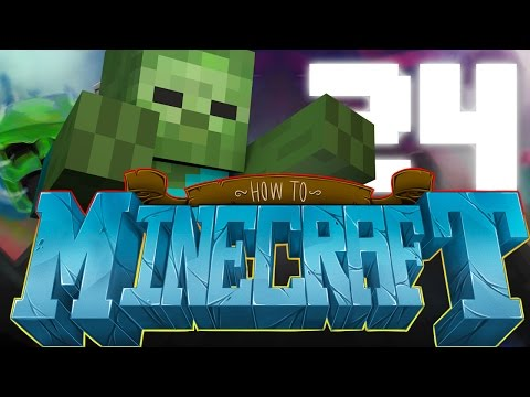 TWO MOB SPAWNERS ZOMBIE TIME HOW TO MINECRAFT #24 1.8 SMP