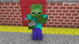 Noob Life: Monster School Day - Dinamitic Minecraft Animation (s01e04)